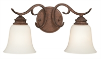 Picture for category Vaxcel W0185 Hartford Bath Lighting 19in Weathered Patina Steel 2-light