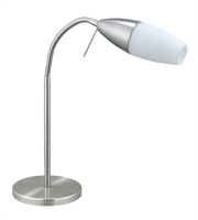 Picture for category Eglo 20137A Inessa Table Lamps 6in Matte Nickel 1-light