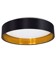 Picture for category Eglo 31622A Maserlo Flush Mounts Black Gold 1-light