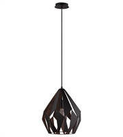 Picture for category Eglo 49254A Carlton I Pendants Black Copper 1-light