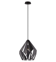 Picture for category Eglo 49255A Carlton I Pendants Black Siler 1-light