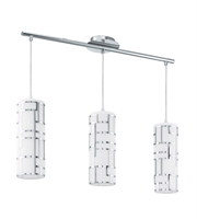 Picture for category Eglo 92563A Bayman Island Lighting Chrome 3-light