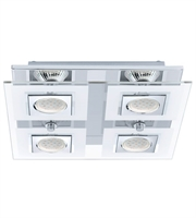 Picture for category Eglo 92876A Cabo Spot Lighting 11in Chrome 4-light