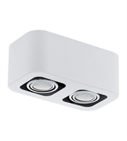 Picture for category Eglo 93012A Toreno (1) Spot Lighting 5in Glossy White 2-light