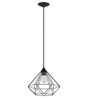 Picture for category Eglo 94188A Tarbes Pendants Matte Black 1-light