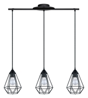 Picture for category Eglo 94189A Tarbes Pendants 6in Matte Black 3-light