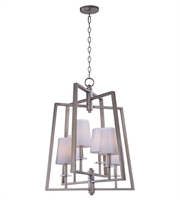 Picture for category Maxim 30253WTPD Swing Chandeliers 24in Platinum Dusk Metal Glass 6-light