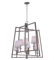 Picture for category Maxim 30255WTPD Swing Chandeliers 30in Platinum Dusk Metal Glass 8-light