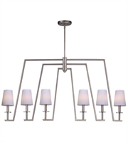 Picture for category Maxim 30257WTPD Swing Island Lighting 6in Platinum Dusk Metal Glass 6-light