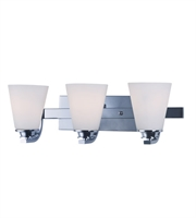Picture for category Maxim 9013SWPC Conical Bath Lighting 19in Polished Chrome 3-light