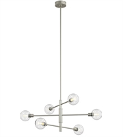 Picture for category DVI DVP20802SN/CH-CL Ocean Drie Pendants Satin Nickel Chrome 6-light