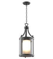Picture for category DVI DVP9075HB-OP Essex Outdoor Pendant Hammered Black 1-light