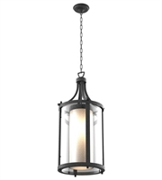 Picture for category DVI DVP9076HB-OP Essex Outdoor Pendant Hammered Black 2-light