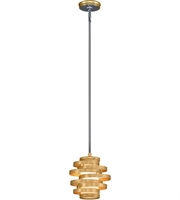 Picture for category Corbett 225-41 Vertigo Pendants Gold Leaf with Polished Stainless Accents