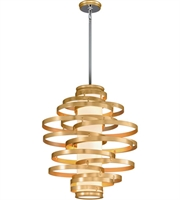Picture for category Corbett 225-44 Vertigo Pendants Gold Leaf with Polished Stainless Accents