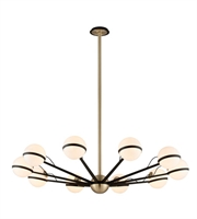 Picture for category Troy F5306 Chandelier Textured Bronze Brushed Brass Hand Iron Ace 10Light 50 in