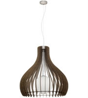 Picture for category Eglo 96219A Tindori Pendants Wood Glass 1-light