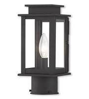 Picture for category Outdoor Post 1 Light With Hand Crafted Solid Brass Clear Black size 11 in 60 Watts - World of Crystal