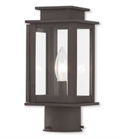 Picture for category Outdoor Post 1 Light With Hand Crafted Solid Brass Clear Bronze size 11 in 60 Watts - World of Crystal