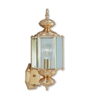 Picture for category Wall Sconces 1 Light With Solid Brass Clear Beveled Polished Brass size 17 in 100 Watts - World of Crystal