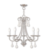 Picture for category Chandeliers 5 Light Daphne With Steel Drum Brushed Nickel size 25 in 300 Watts - World of Crystal
