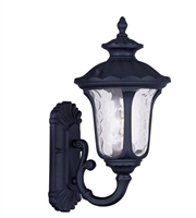 Picture for category Wall Sconces 1 Light Oxford With Clear Water Glass Black size 16 in 100 Watts - World of Crystal