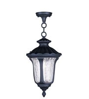 Picture for category Outdoor Pendants 1 Light With Clear Water Glass Black size 10 in 100 Watts - World of Crystal