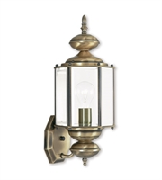 Picture for category Wall Sconces 1 Light With Clear Beveled Glass Antique Brass size 7 in 100 Watts - World of Crystal