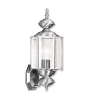 Picture for category Wall Sconces 1 Light With Clear Beveled Glass Brushed Nickel size 7 in 100 Watts - World of Crystal