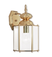 Picture for category Wall Sconces 1 Light With Clear Beveled Glass Polished Brass size 7 in 100 Watts - World of Crystal