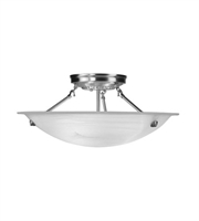 Picture for category Semi Flush Mounts 3 Light With White Alabaster Glass Brushed Nickel size 20 in 225 Watts - World of Crystal
