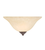Picture for category Wall Sconces 1 Light With Imperial Bronze Finish Medium Base 13 inch 100 Watts - World of Crystal