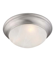 Picture for category Semi Flush Mounts 1 Light With Brushed Nickel Finish Medium Base 10 inch 60 Watts - World of Crystal