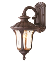Picture for category Wall Sconces 1 Light With Hand Blown Light Amber Water Glass Imperial Bronze Finish size 16 in 100 Watts - World of Crystal