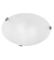 Picture for category Semi Flush 2 Light With Brushed Nickel White Alabaster Glass 12 inches 120 Watts - World of Crystal