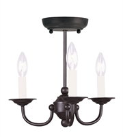 Picture for category Mini Chandeliers 3 Light With Black Finish size 14 in 180 Watts - World of Crystal