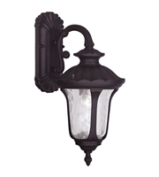 Picture for category Wall Sconces 1 Light Oxford With Clear Water Glass Bronze Finish size 16 in 100 Watts - World of Crystal