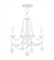 Picture for category Pendants Porch 4 Light With Antique White Finish size 18 in 240 Watts - World of Crystal