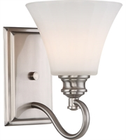 Picture for category Nuvo 62/801 Tess Bath Lighting 7in Brushed Nickel 1-light