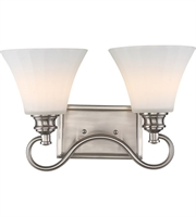 Picture for category Nuvo 62/802 Tess Bath Lighting 16in Brushed Nickel 2-light