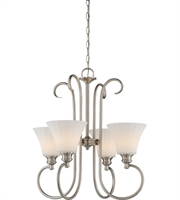 Picture for category Nuvo 62/804 Tess Chandeliers 23in Brushed Nickel 4-light