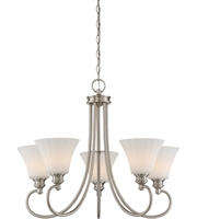 Picture for category Nuvo 62/805 Tess Chandeliers 27in Brushed Nickel 5-light