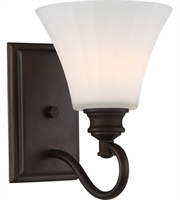 Picture for category Nuvo 62/901 Tess Bath Lighting 7in Aged Bronze 1-light