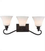 Picture for category Nuvo 62/903 Tess Bath Lighting 25in Aged Bronze 3-light