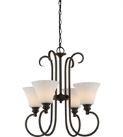 Picture for category Nuvo 62/904 Tess Pendants 23in Aged Bronze 4-light
