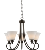 Picture for category Nuvo 62/905 Tess Chandeliers 27in Aged Bronze 5-light
