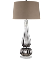 Picture for category Dimond D3039 Pasha Table Lamps 17in Silver Chocolate Glass Acrylic Faux Silk