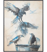 Picture for category Guild Master 1616017 Bird bath Decor 36in Handpainted Art Signature Black