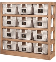 Picture for category Guild Master 625060 Locker Baskets Furniture 15in Honey Oak Wood Metal