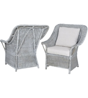 Picture for category Guild Master 6515511P Retreat Chairs 33in Waterfront Grey Stain White Wash